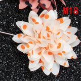 Pointy Edge Flower Lapel Pins