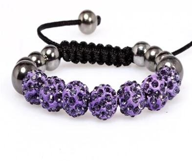 Adjustable Crystal Rhinestone Bead Bracelet