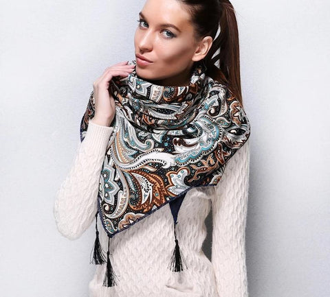 Winter Warm Tassel Scarves