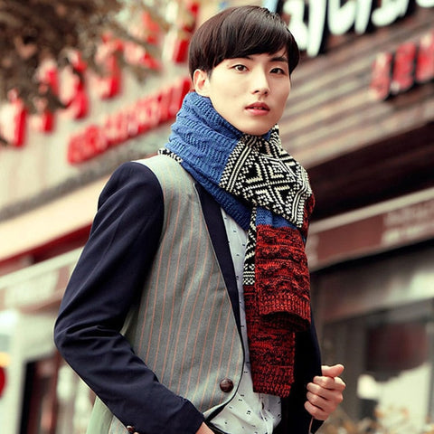 Winter Casual Shawl Wrap Geometric Print Scarves