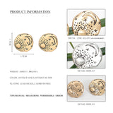 Minimalist Vintage Texture Sun Moon Star Studs Earrings