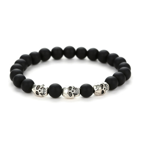 Skeleton And Stone Bracelets