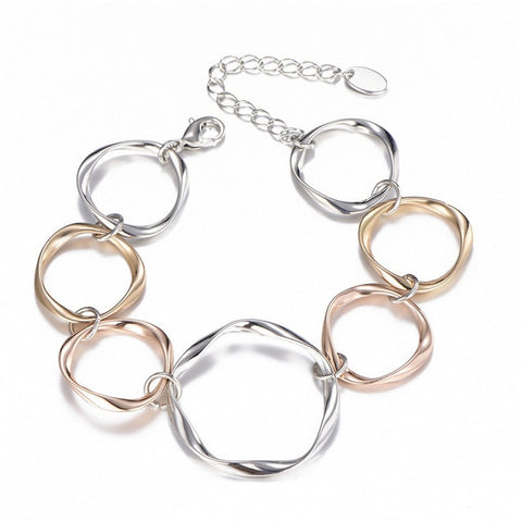 Gold Silver Color Circles Bracelet