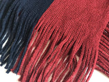 Knitting stripe Winter Acrylic Wraps