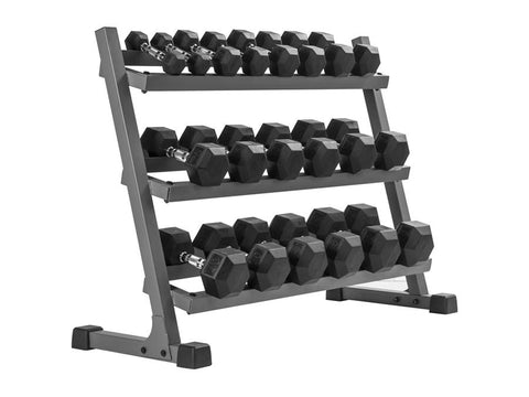 Buy XMark Three Tier Dumbbell Rack, Free Shipping - EmpowerGyms.com