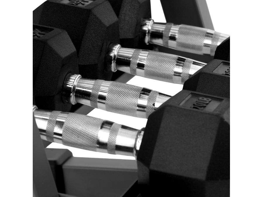 Buy Rubber Hex Dumbbell Set - 200lbs, Free Shipping - EmpowerGyms.com