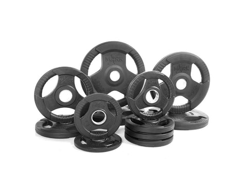 Buy Rubber Coated Olympic Weight Plate Set - 165lbs, Free Shipping - EmpowerGyms.com