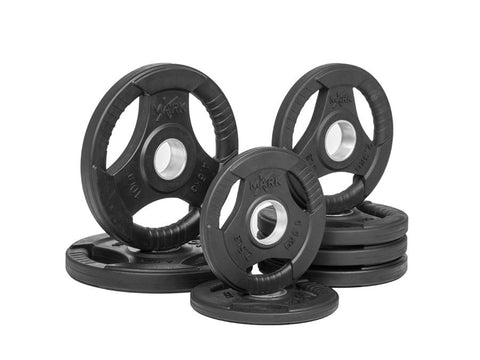 Buy Rubber Coated Olympic Weight Plate Set - 45lbs, Free Shipping - EmpowerGyms.com