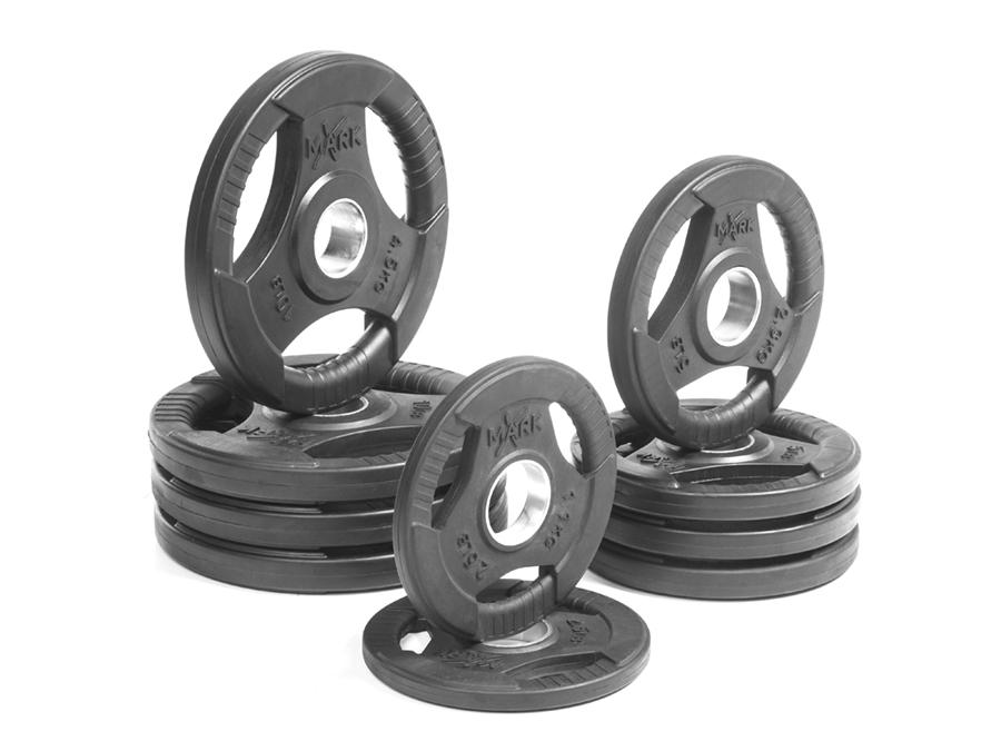 Buy Rubber Coated Olympic Weight Plate Set - 65lbs, Free Shipping - EmpowerGyms.com