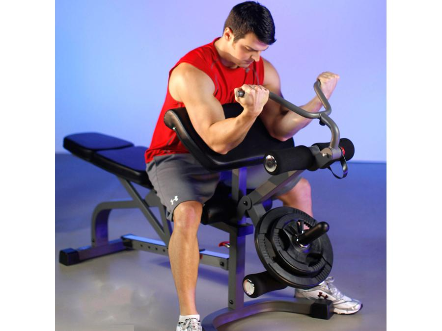 Buy Sliding Flat/Incline/Decline System Weight Bench with Arm & Leg Station, Free Shipping - EmpowerGyms.com