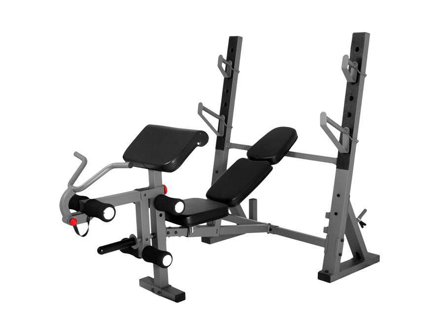 Buy Flat/Incline/Decline Bench Press with Attached Arm & Leg Station, Free Shipping - EmpowerGyms.com