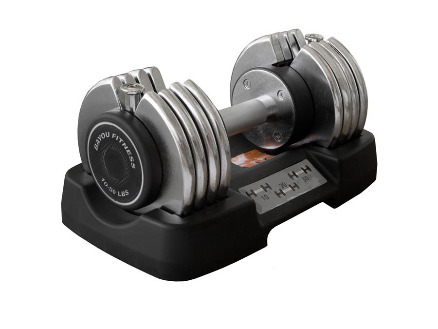 Buy Bayou Fitness Adjustable Dumbbell - 50lbs, Free Shipping - EmpowerGyms.com