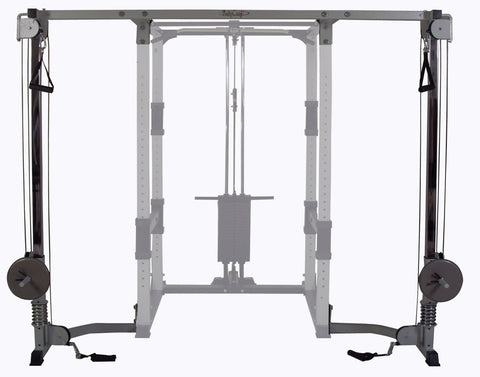 Buy Cable Crossover Attachment for Bodycraft Power Rack, Free Shipping - EmpowerGyms.com