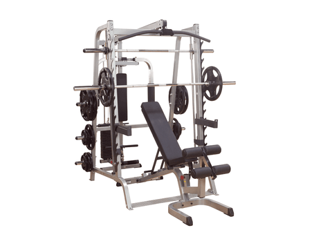 Body Solid Series 7 Smith Machine Total Home Gym Package - GS348QP4