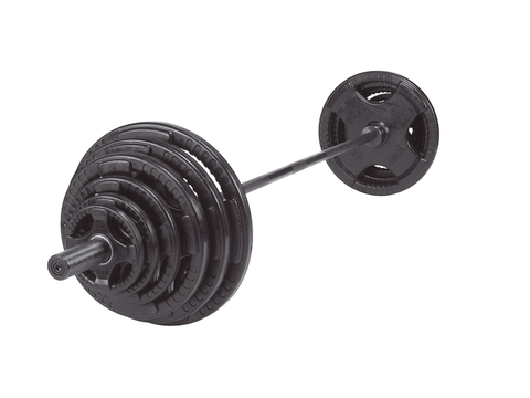 500lb Rubber Grip Olympic Weight Set with Chrome 7' Barbell
