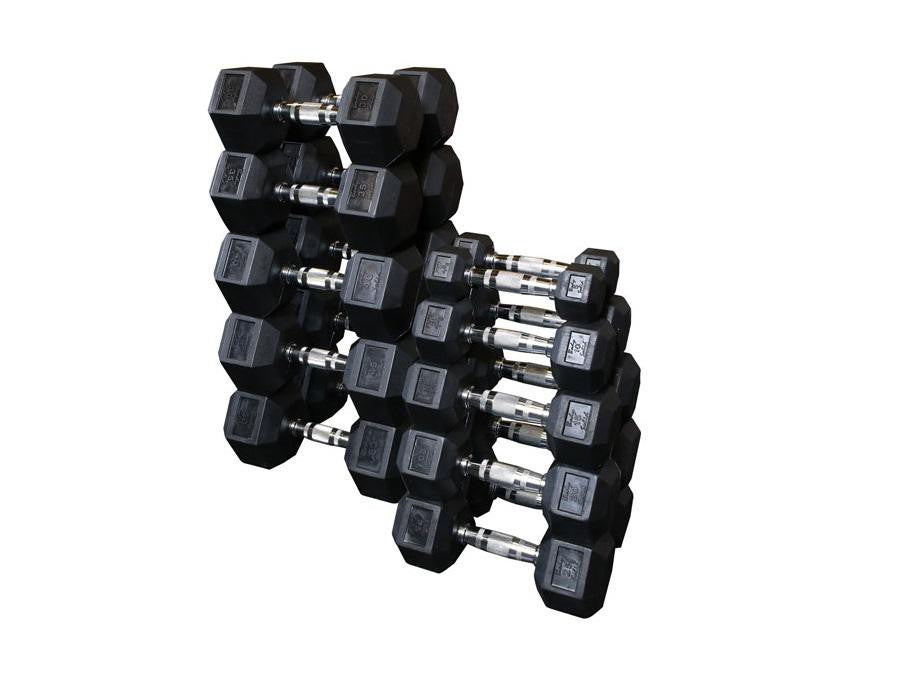 Buy Rubber Hex Dumbbells, Free Shipping - EmpowerGyms.com