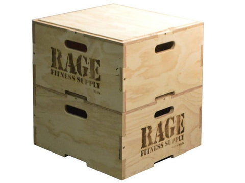 Stackable Wood Plyo Boxes