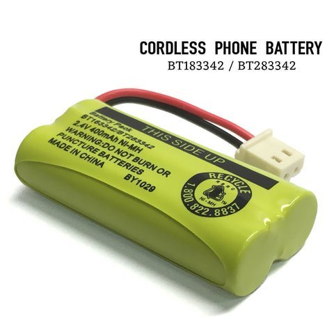 Image of Original Vtech BT183342/BT283342 Battery Pack 2.4V 400mAh for AT&T Cordless Phone