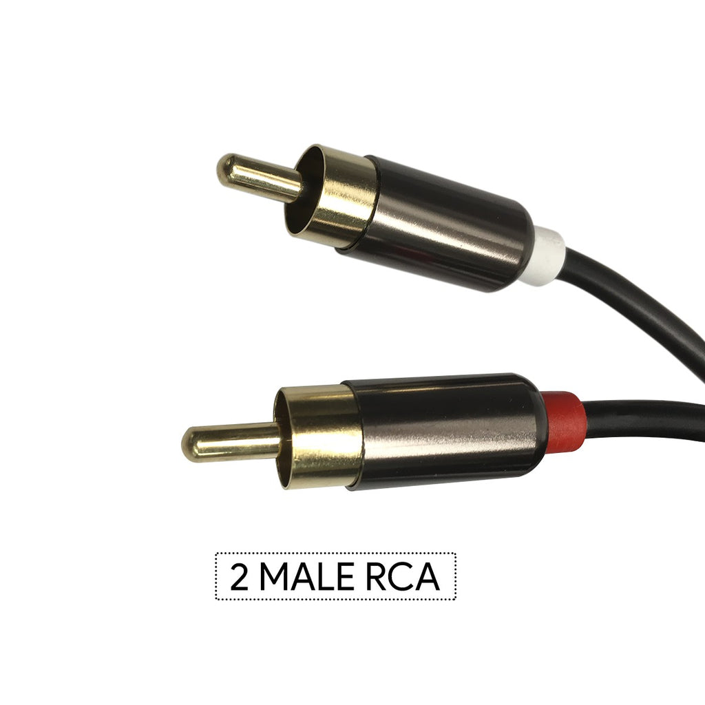 Headphones Jack Plug 3.5mm Aux in to 2 Red White RCA Stereo Audio Y Cord Gold Plated Cable for iPod iPhone 4 5 6 7 to Connect with into TV A/V Receiver Home Theater System