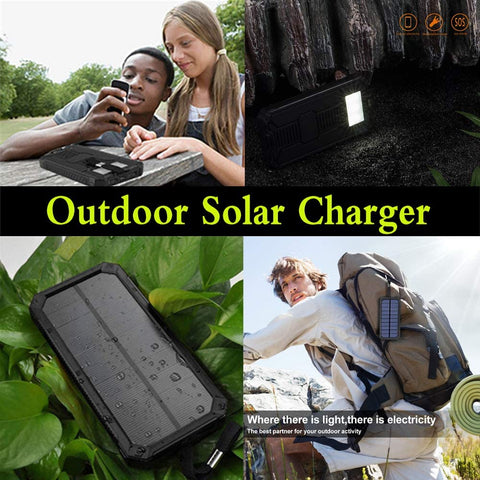 Image of Solar Power Bank with Dual USB Ports