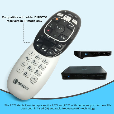 Image of Directv RF/IR Genie RC71 RC72 RC73 Remote Control for HR44 Receiver