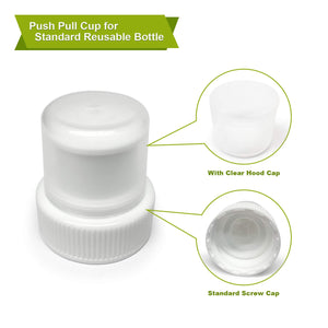 5-Pack Replacement Sport Bottle Push Pull Cap Cover Lid for 16 oz Soda Beverage Water Liquid Plastic Bottles