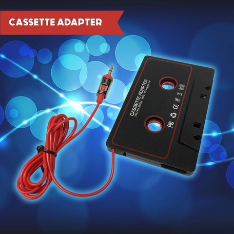 Cassette Adapter Audio Stereo 3.5mm Aux Cable Cord to Car Vehicle Radio Deck