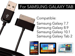 2-Pack Sync Charger Cable for Samsung Galaxy 7 7.7 8.9 10.1 Tab 2 Tablet