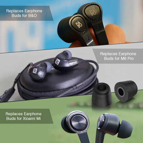 3-Pairs Universal T-200 Replacement Isolation Noise-Cancelling Soft Memory Foam Earphone Noise Reducing Earbud Tips for Headphones Headset