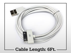 6FT USB Charger Cable for Old Classic iPhone 3 4 4S iPod 1 2 3 4 Generation iPad 2nd 3rd