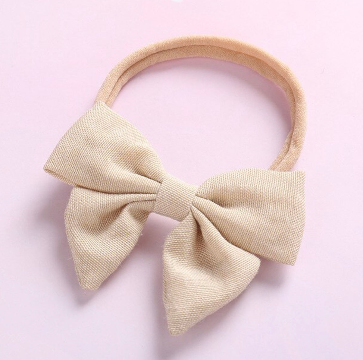 Sailor Linen Boho Bow Headband