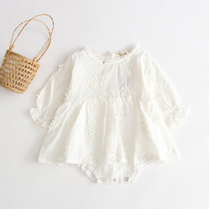 'Rai-lee'- embroidered light weight cotton playsuit