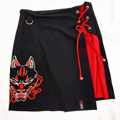 SIDE LACE SKIRT – ANGRY KITSUNE