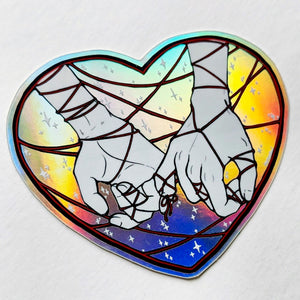 HOLOGRAPHIC STICKER – RED THREAD PINKY PROMISE