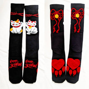 RETIRED knee Socks - lucky cat