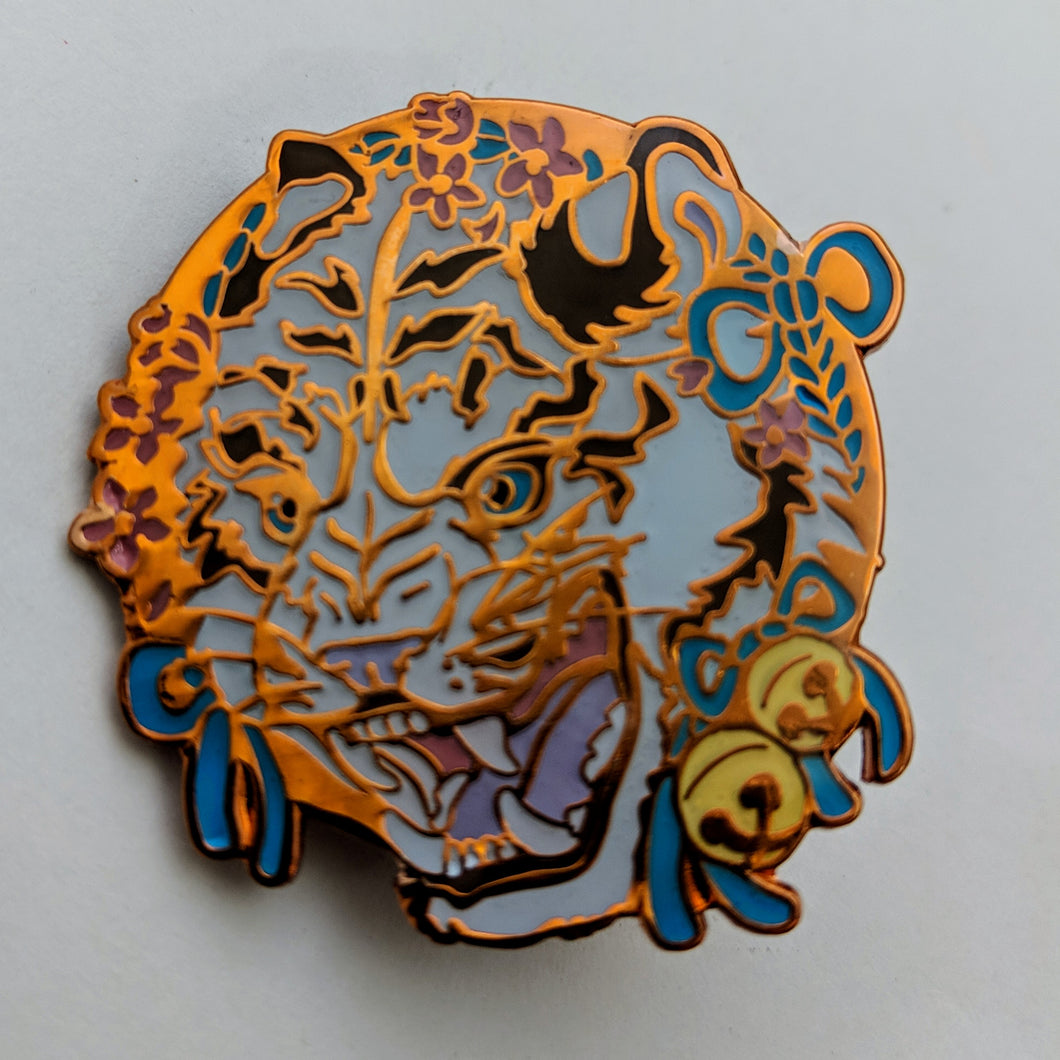 soft enamel pin - tiger