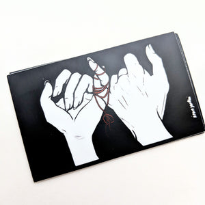 vinyl sticker - red string
