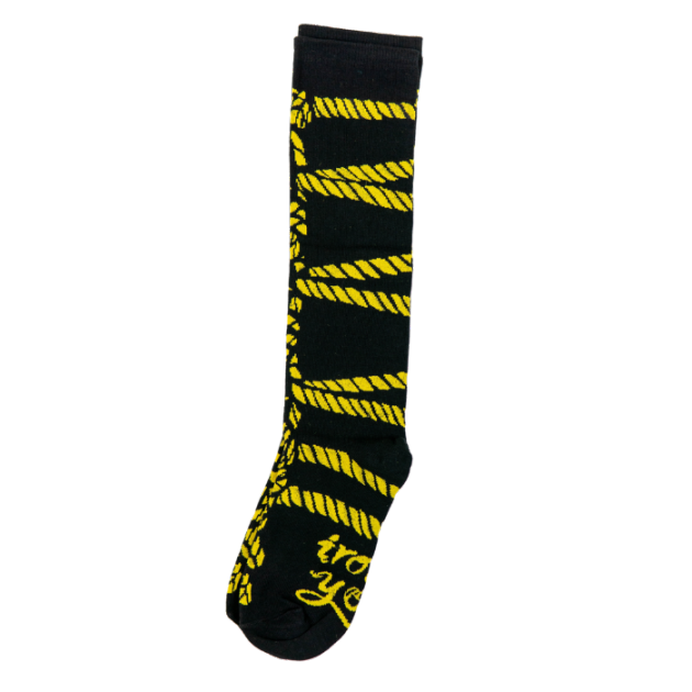 KNEE SOCKS - HISHI SHIBARI YELLOW