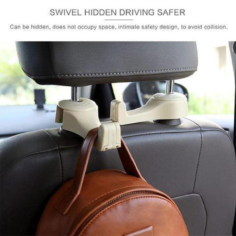2 in1 Multi-functional Car Headrest Hook (2 pcs)