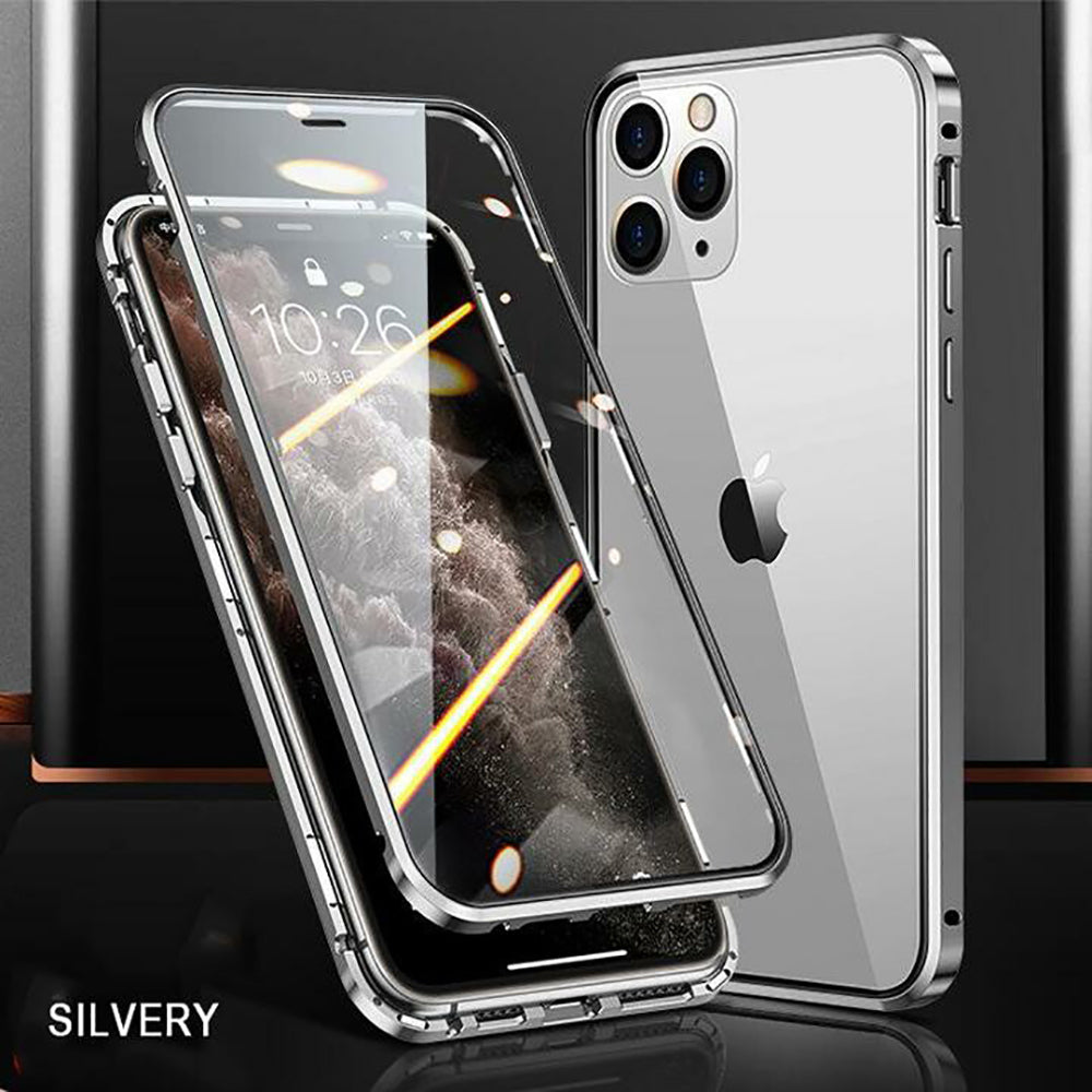 2020 Upgraded Two Side Tempered Glass Magnetic Adsorption Phone Case for iPhone 12