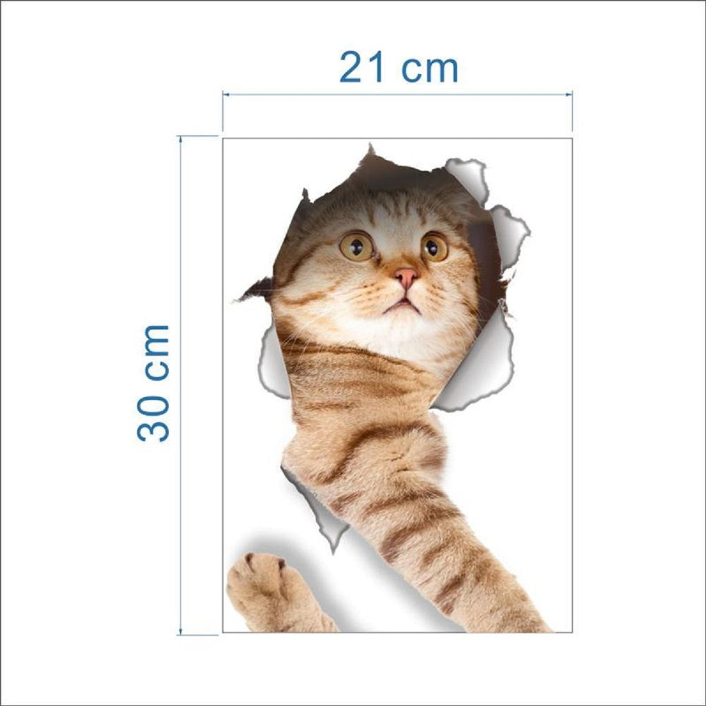 3D Cat Stickers