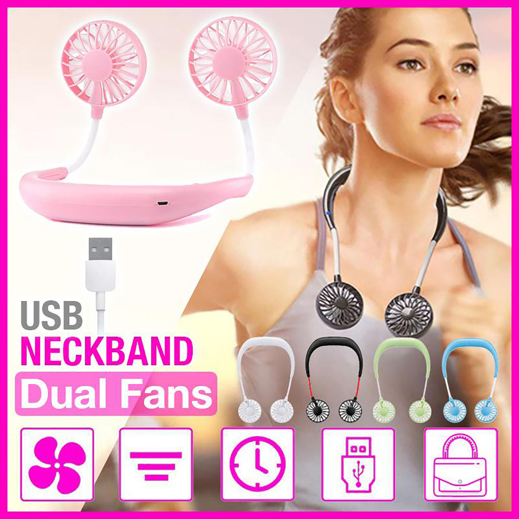 Dual Neckband Fans