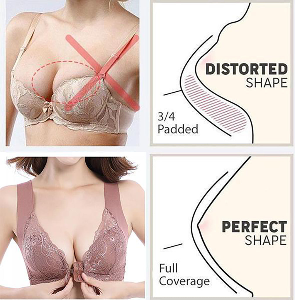 Front Closure Extra-Elastic Breathable Bra