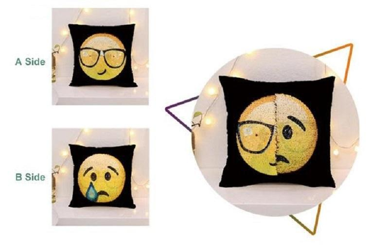Emoji Magic Changing Pillow
