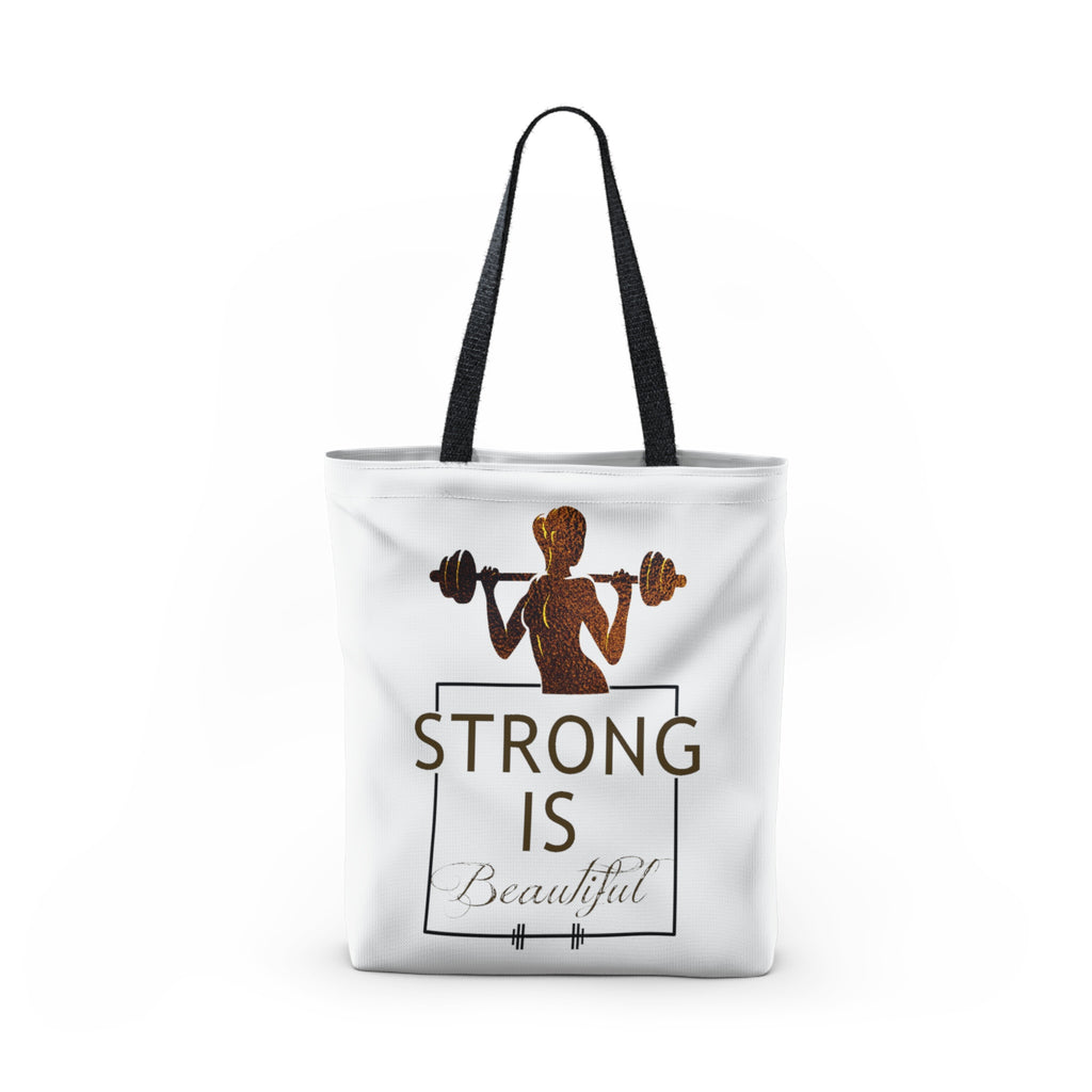 New Strong is Beautiful Tote Bag – Fitbells SH34