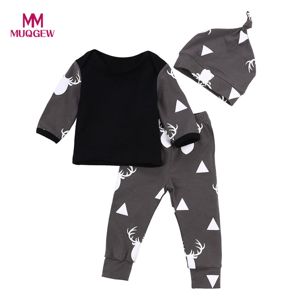 4eaf771d6b32 2017 New Autumn Cute Newborn Baby Girl Boys Clothes Deer Tops T ...