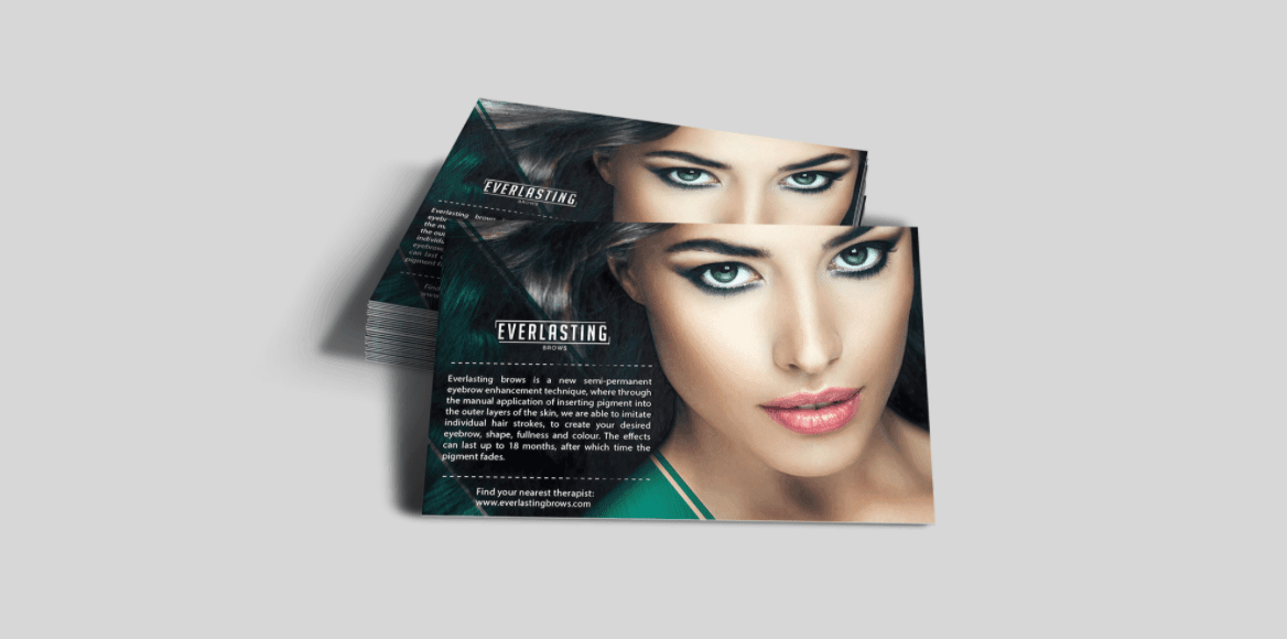 Everlasting Brows Promotional Cards