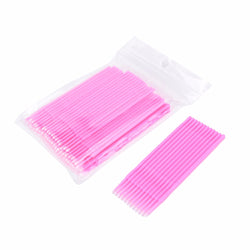 100pcs/lot Durable Micro Disposable Eyelash Extension Individual Applicators Mascara Brush For Women Eyelash Glue Cleaning Stick