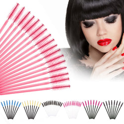 50 pcs/pack, One-Off Disposable Eyelash Brush Mascara Applicator Wand Makeup Brushes Eyelash Comb Brushes cosmetics tools