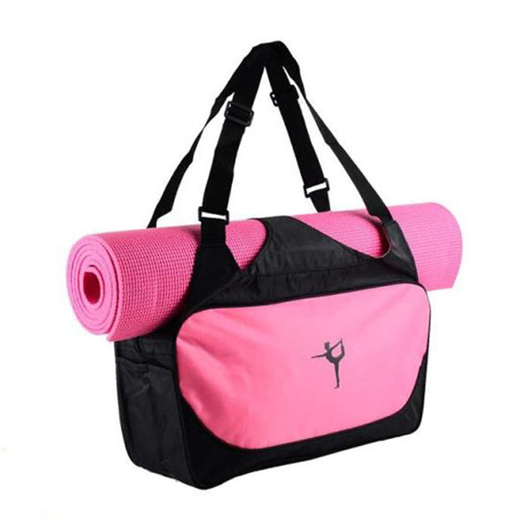 SHOULDER BAG WITH YOGA MAT HOLDER (YOGA MAT NOT INLCUDED)